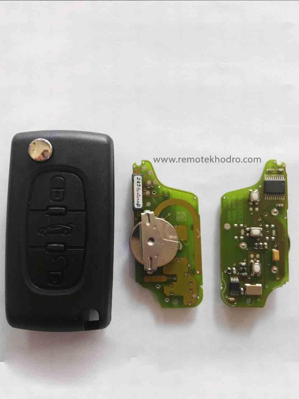 تعمیر سوئیچ و ریموت خودرو پژو ، کددهی، پروگرام، کپی کلید یدک پژو
